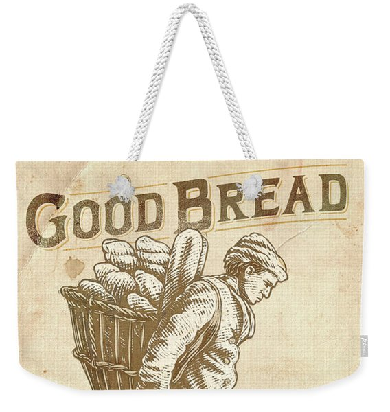 Weekender Tote Bag featuring the drawing Good Bread by Clint Hansen