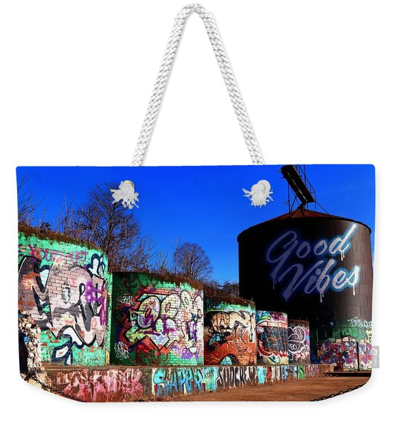 Good Vibes Asheville North Carolina Weekender Tote Bag