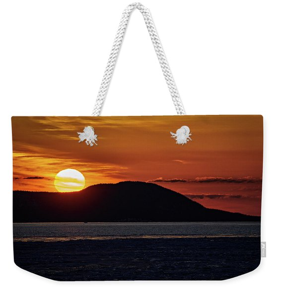 Weekender Tote Bag featuring the photograph Goodnight Superior by Doug Gibbons