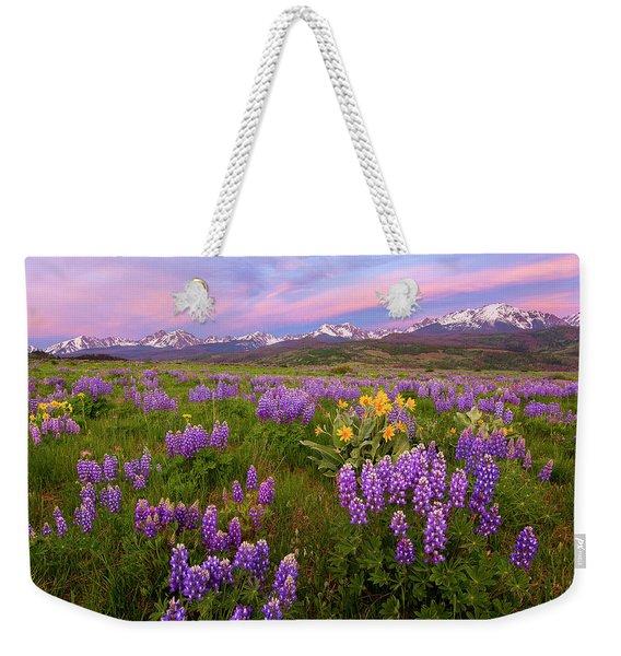 Gore Range Sunrise Weekender Tote Bag