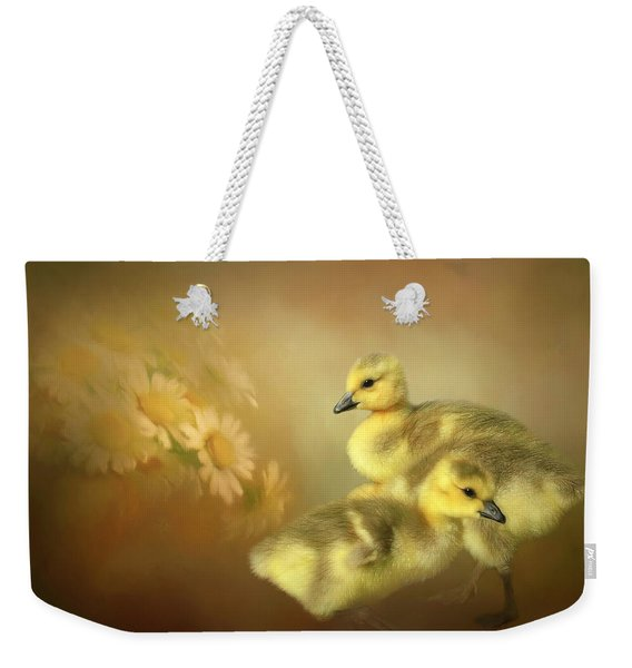 Goslings And Daisies Weekender Tote Bag