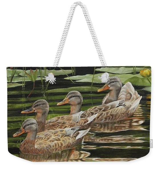 Got My Ducks In A Row Weekender Tote Bag
