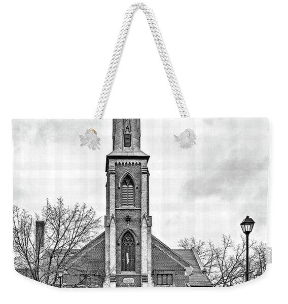 Grace Methodist Church 1888 Bw Weekender Tote Bag