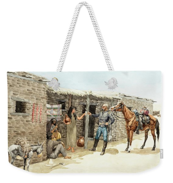 Gracias Senorita, May The Apaches Never Get You, 1885 Weekender Tote Bag