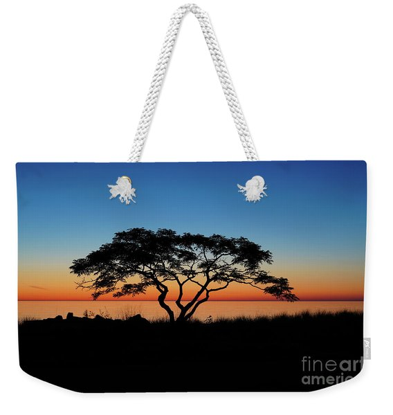 Graduated Sunrise Silhouette Weekender Tote Bag