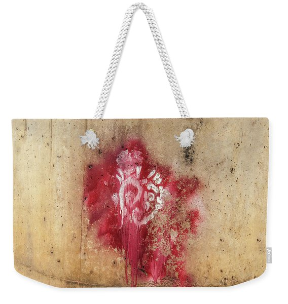 Grafitti Heart Weekender Tote Bag