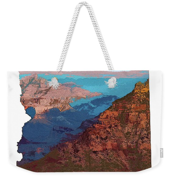 Grand Canyon In The Shape Of Arizona Weekender Tote Bag