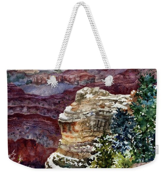 Grand Canyon Winter Day Weekender Tote Bag