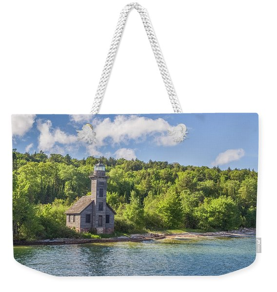 Grand Island East Channel Lighthouse Weekender Tote Bag