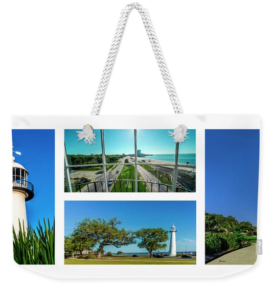 Grand Old Lighthouse Biloxi Ms Collage A1a Weekender Tote Bag