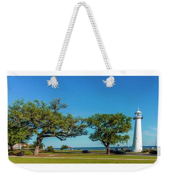 Grand Old Lighthouse Biloxi Ms Collage A1e Weekender Tote Bag