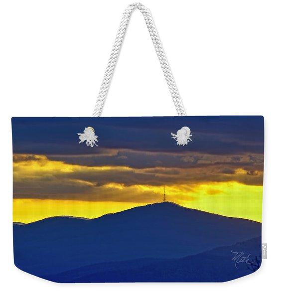 Grandmother Mountain Sunset Weekender Tote Bag