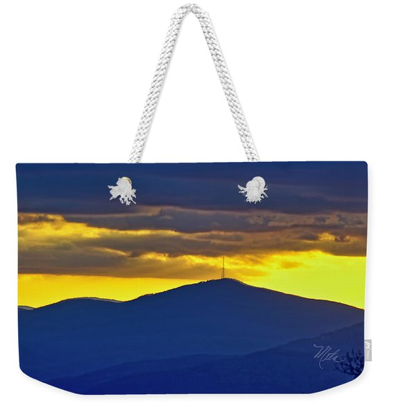 Grandmother Mountain Sunset Weekender Tote Bag