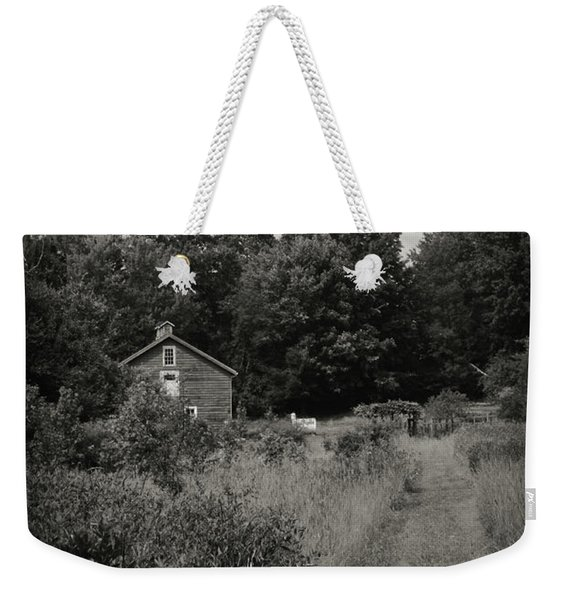 Weekender Tote Bag featuring the photograph Grandpa's Barn by Michelle Wermuth