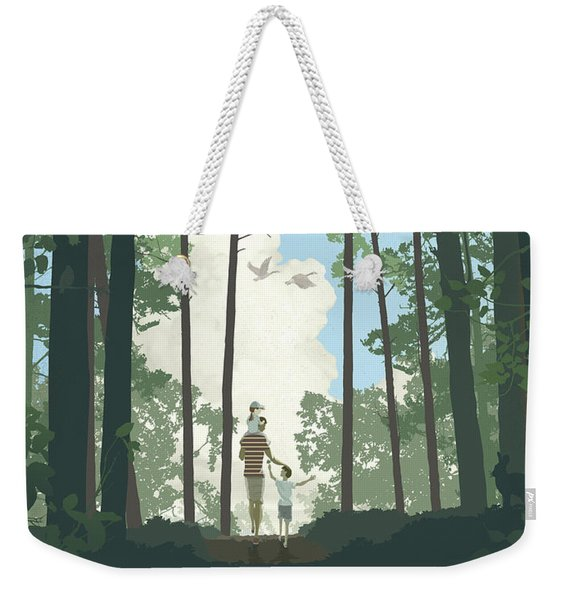 Weekender Tote Bag featuring the digital art Grandview Park by Clint Hansen