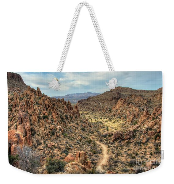 Grapevine Mountain Trail Weekender Tote Bag