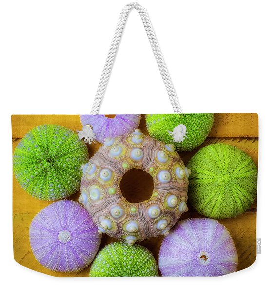 Graphic Sea Urchins Weekender Tote Bag