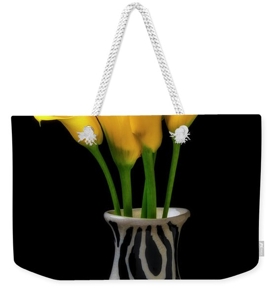 Graphic Vase And Calla Lilies Weekender Tote Bag
