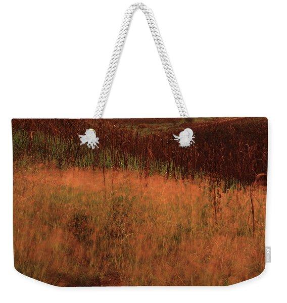 Grasses And Sugarcane, Trinidad Weekender Tote Bag