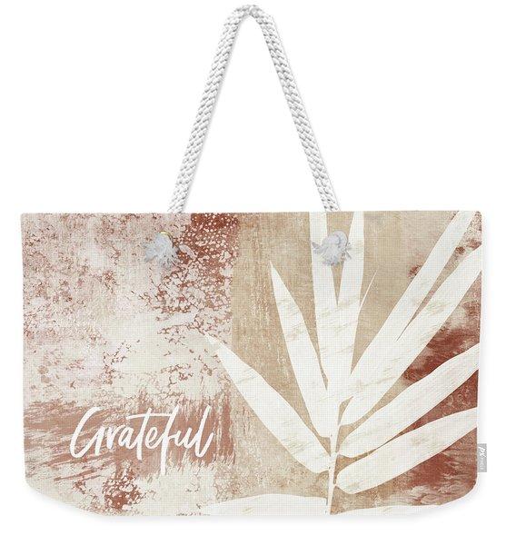 Grateful Autumn Clay Leaf - Art By Linda Woods Weekender Tote Bag