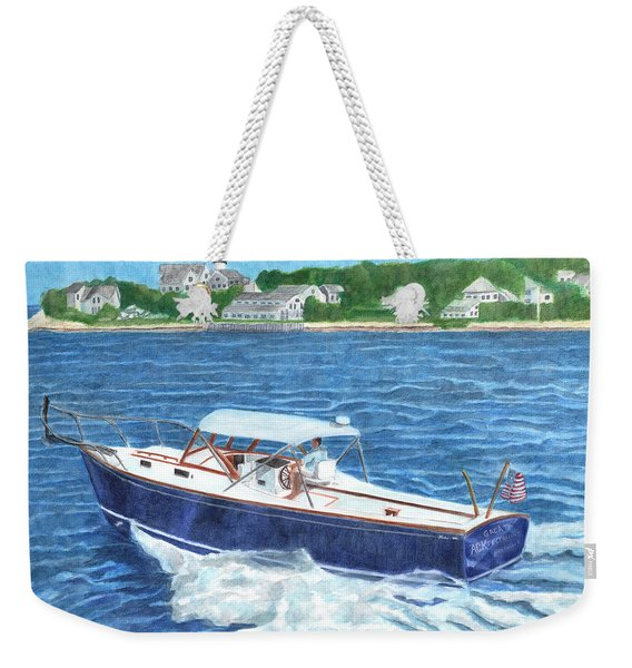 Weekender Tote Bag featuring the painting Great Ackpectations Nantucket by Dominic White