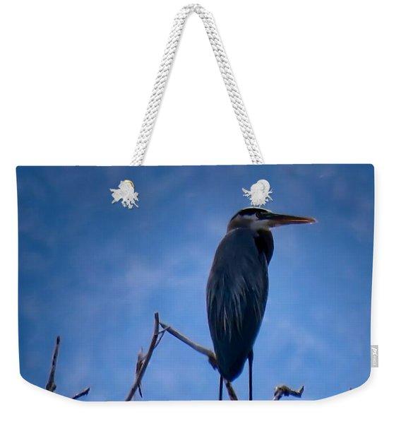 Great Blue Heron 3 Weekender Tote Bag