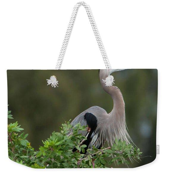 Great Blue Heron Portrait Weekender Tote Bag