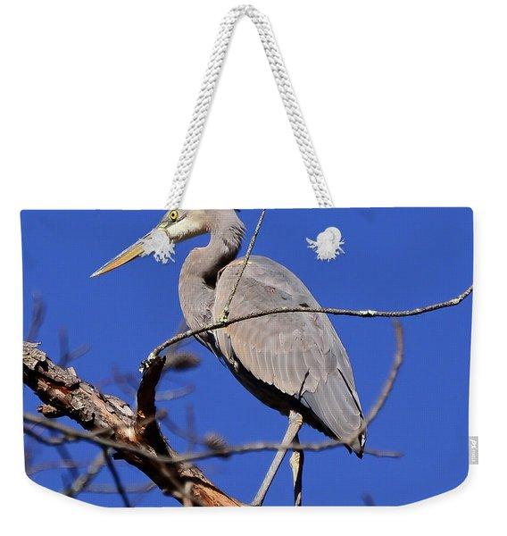 Great Blue Heron Strikes A Pose Weekender Tote Bag