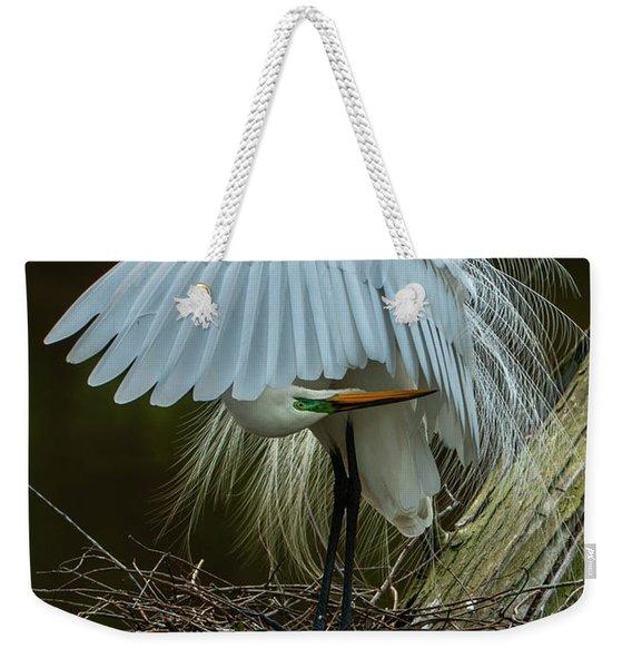 Great Egret Beauty Weekender Tote Bag