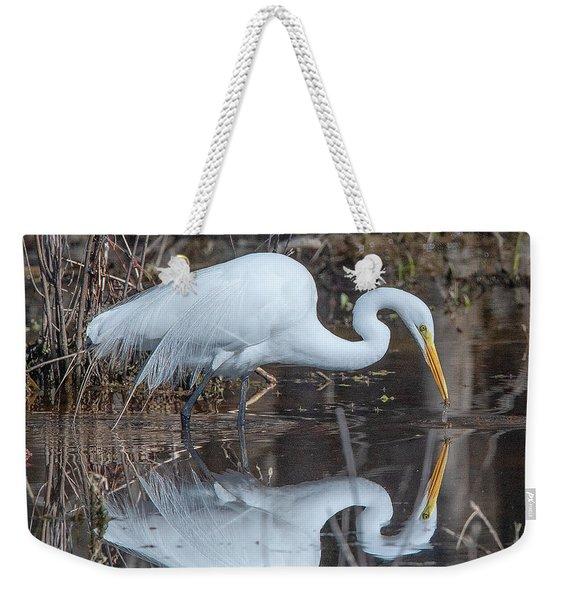 Great Egret In Breeding Plumage Dmsb0154 Weekender Tote Bag