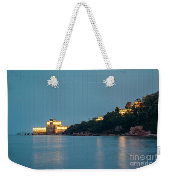 Great Wall At Night Weekender Tote Bag