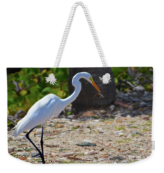 Great White Egret Hunter Weekender Tote Bag