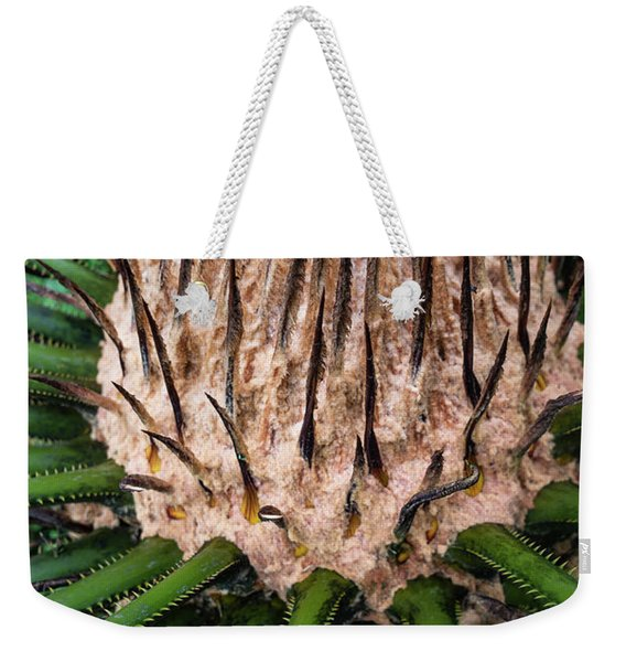 Weekender Tote Bag featuring the photograph Green Abstract Series No.10 by Juan Contreras