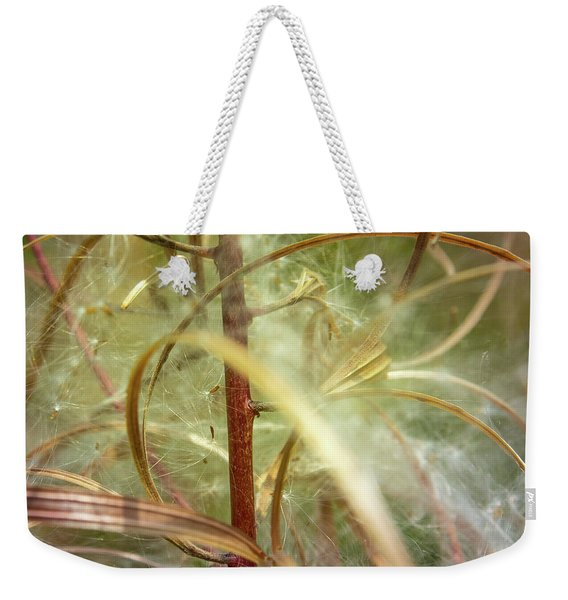 Weekender Tote Bag featuring the photograph Green Abstract Series No.11 by Juan Contreras