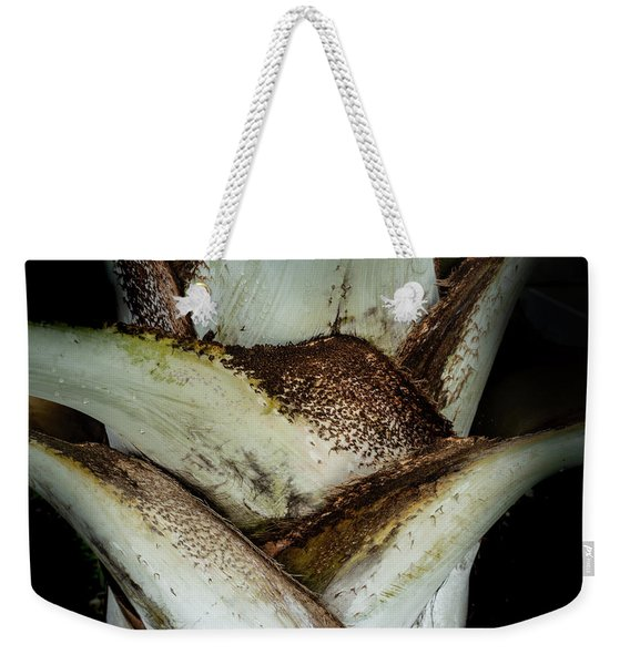 Weekender Tote Bag featuring the photograph Green Abstract Series No.2 by Juan Contreras