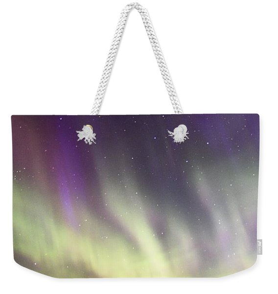 Green And Purple Fire In The Sky Weekender Tote Bag