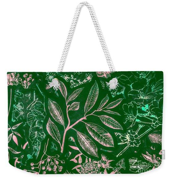 Green Composition Weekender Tote Bag