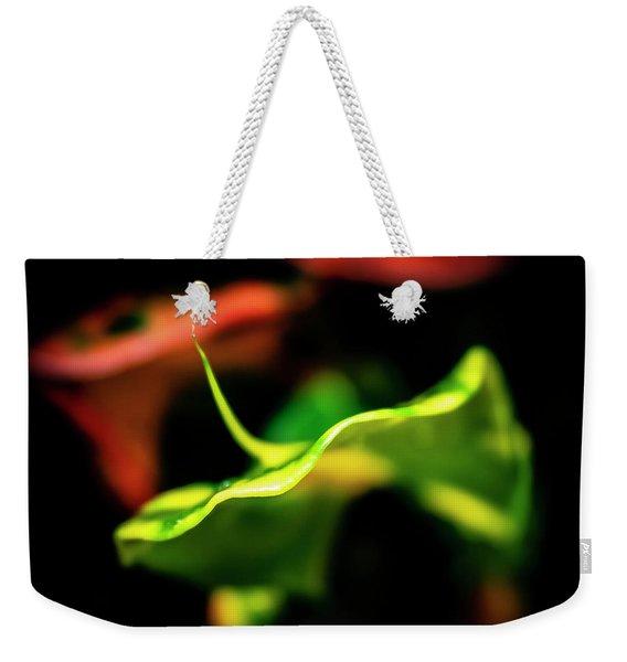 Green Croton Weekender Tote Bag