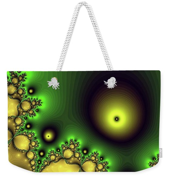 Green Glowing Bliss Abstract Weekender Tote Bag