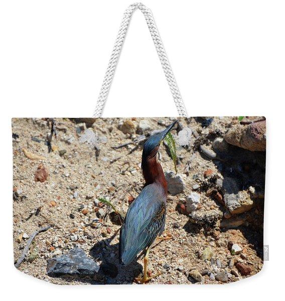 Green Heron Strut Weekender Tote Bag