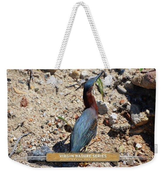 Green Heron Strut - Virgin Nature Series Weekender Tote Bag