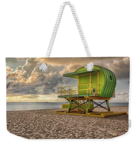 Green Lifeguard Stand Weekender Tote Bag