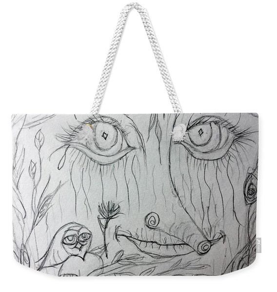 Green Man Of The Forest Weekender Tote Bag