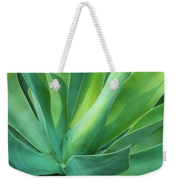 Green Minimalism Weekender Tote Bag