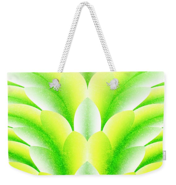 Green Petals Weekender Tote Bag