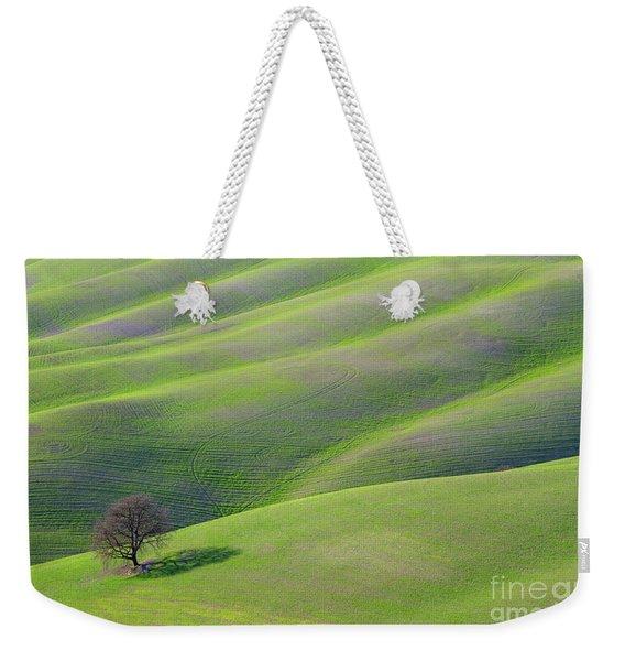 Green Rolling Grassland Weekender Tote Bag