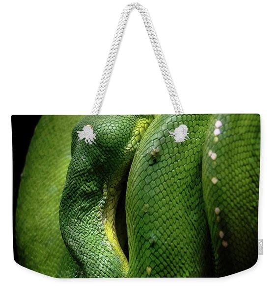 Green Tree Boa Weekender Tote Bag