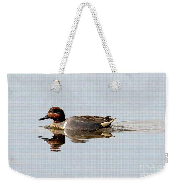 Green-winged Teal Drake Weekender Tote Bag