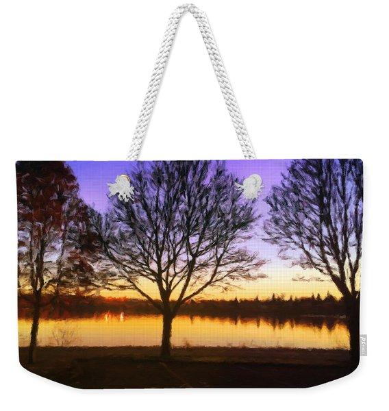 Greenlake Dawn Intensity Weekender Tote Bag