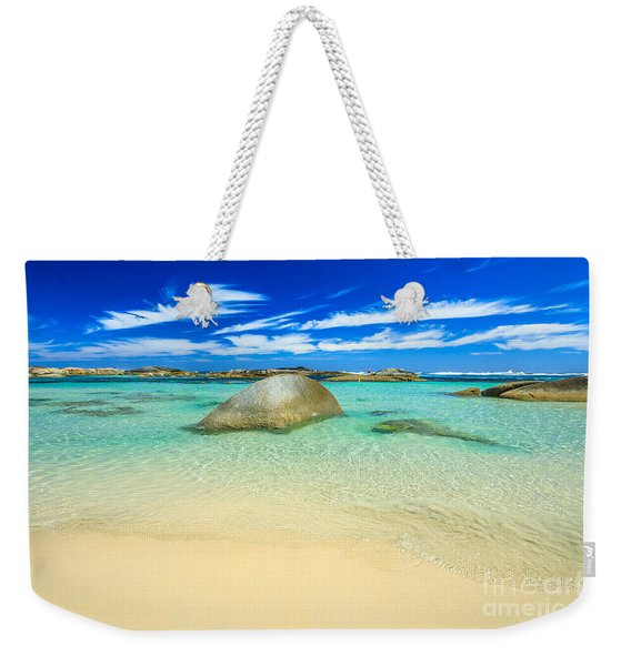 Weekender Tote Bag featuring the photograph Greens Pool Albany by Benny Marty